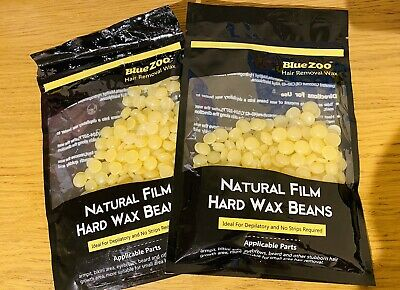 2x 100 Grams HONEY HARD HOT WAX Beans No Strips Required • 9.99£