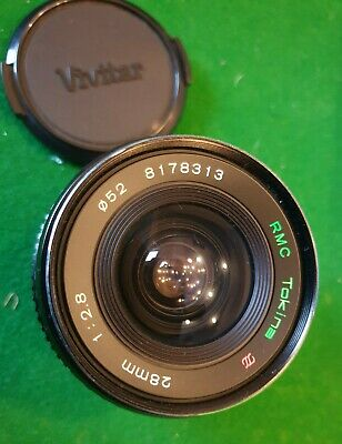 Tokina 28mm 1:2.8 F2.8 F/2.8 - Wide Angle Lens - Canon Mount FD • 12£