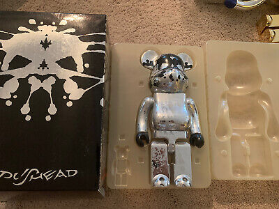 $375 • Buy Authentic Medicom 2005 Pushead Silver Edition Bearbrick 400% Only Be@rbrick