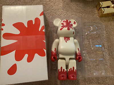 $200 • Buy Authentic MEDICOM BE@RBRICK 400%  Komoto Hiroto Bloody Throat Bearbrick 2003