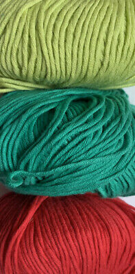 Job Lot Knitting Yarn Wool 5x Ball DEBBIE BLISS Eco Baby Organic Cotton KL3670 • 7.99£