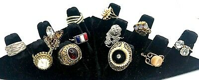 $ CDN18.97 • Buy Lot - Collection Of 12 Vintage Costume Rings
