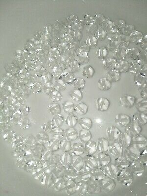 AU3.50 • Buy 25g Clear Faceted Bicone Czech Glass Beads Small 6mm (jb2480)