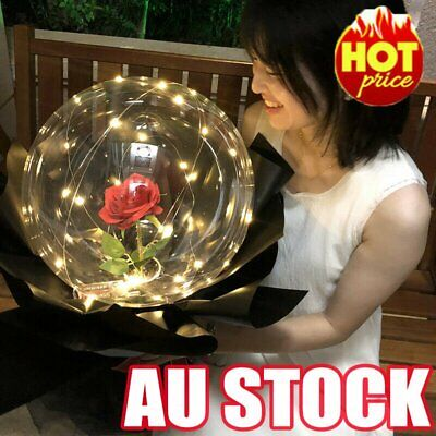 AU13.66 • Buy Valentine's Day Gift Luminous Led Light Balloon Rose Flower Bouquet Party Decor