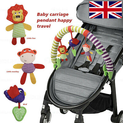 New Cute Activity Arch Baby Toy Mobile For Car Seat Stroller Buggy Pushchair UK • 9.89£