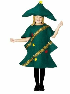 Smiffys Christmas Tree Costume, Green With Tunic & Hat - Unisex - Small Age 4-6 • 11.36£