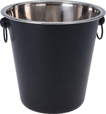 Black Ice Bucket Large Champagne Wine Beer Party Drinks Cooler • 9.99£