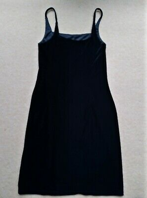 Womens Vintage  Black Shift Dress Velvety From Jessica C & A From 80s • 15£