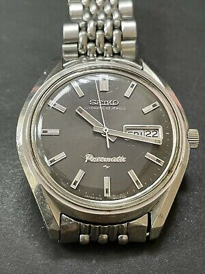 $ CDN491.34 • Buy Vintage SEIKO 5106-9000 Presmatic  Automatic 33j Grey DIAL DATE SS Big Size R5