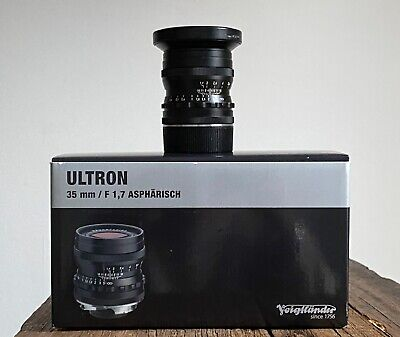 Voigtlander Ultron Aspherical 35mm 1.7 Leica M Fit Camera Lens With Hood + Box  • 180£