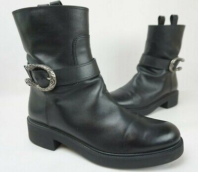 Gucci Black Dionysus Leather Ankle Boots Women's Booties Size 40.5 • 376.36£