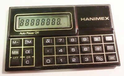 Vintage Retro Hanimex POCKET CREDIT CARD SMALL Calculator • 14.98£