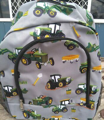 AU55 • Buy Tractor Print Backpack Boys School Bag