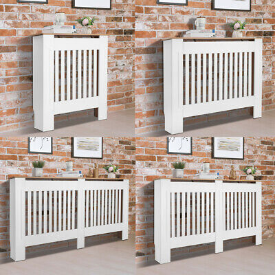 £36.95 • Buy Radiator Cover White Modern Traditional Grill Cabinet Wood Furniture S M L XL