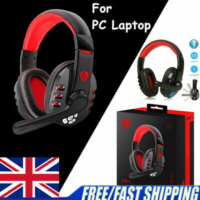 £20.71 • Buy Wireless Gaming Bluetooth Headset Stereo Headset With Microphone For PC Laptop