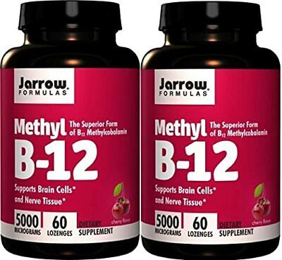 Jarrow Formulas Methylcobalamin (Methyl B12) 5000 Mcg CHERRY 120 Lozenges, 2 • 83.94£