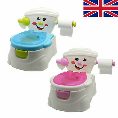 Portable Baby Boys Girls Potty Kids Children Training Toilet Trainer Stool Chair • 18.99£