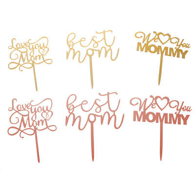 Best Mom We Love You Cake Topper For Mother's Day Birthday Party Cake Decorat PM • 4.11£