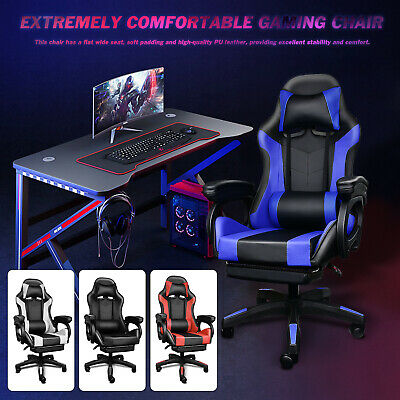 AU155.99 • Buy Massage Gaming Office Chair PU Leather Recliner Computer Chairs Seat AU STOCK