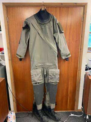 Typhoon Gore-tex Immersion Suit Olive Green Excellent Condition Medium Size  • 89£