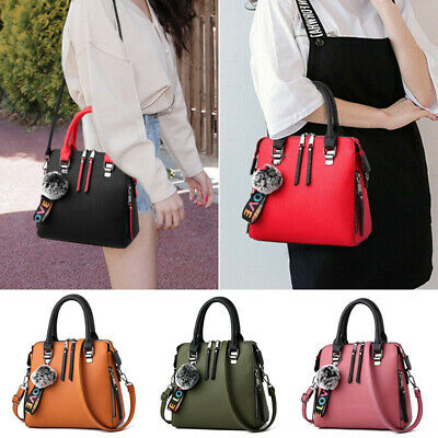 Women Satchel Messenger Leather Briefcase Shoulder Bag Tote Purse Handbags New • 14.49£