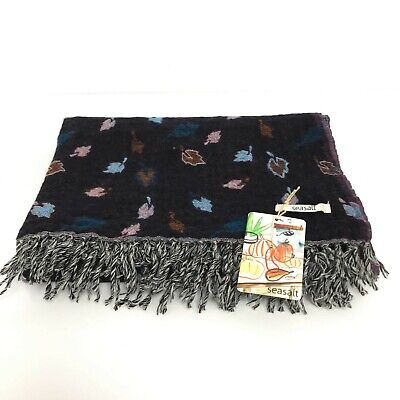 New Sea Salt Scarf One Size Brown Leaf Patterned Women's Casual Occasion 381640 • 6.99£