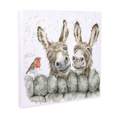 £15 • Buy Wrendale Canvas Hee Haw Donkey And Robin 20cm Square Picture - BRAND NEW