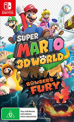 AU82.95 • Buy Super Mario 3D World + Bowsers Fury With Bonus Steel Book Switch Game NEW