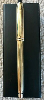 Lovely Vintage Cross Of England 14k Rolled Gold Fountain Pen - The ' Townsend ' • 46£