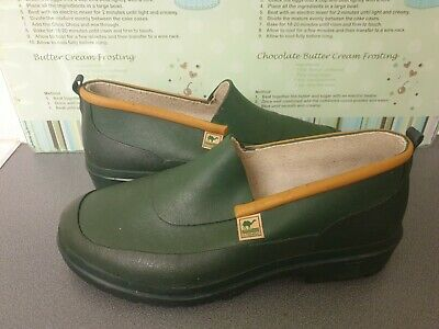 ** WORN TWICE ** VINTAGE LE CHAMEAU RUBBER WELLY CLOGS/LOW SHOES Size EU40/UK7 • 40£