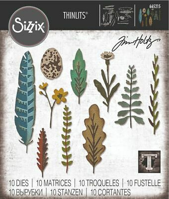£14 • Buy NEW Sizzix Funky Nature By Tim Holtz - Thinlits Die Set 6PK   665215