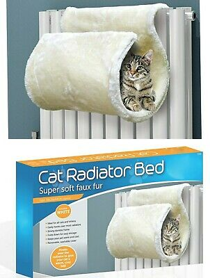 £14.95 • Buy Premium Strong Super Soft Cosy Curled Cat Kitten Radiator Bed Tunnel Washable