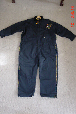 $50 • Buy Berne Workwear Insulated Navy Heavyweight Coverall Men's Size 4xl