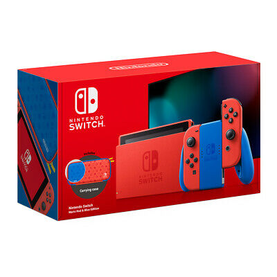 AU464.95 • Buy Nintendo Switch Mario Red & Blue Edition Console NEW