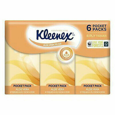 AU4.69 • Buy NEW Kleenex Brand Tissues To Go Aloe Vera Handy Pack - 6 Pack