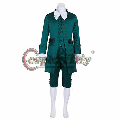 $116 • Buy Colonial Hamilton Military Cosplay Costume 18th Century Men's Rococo Outfit Suit