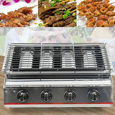 AU317 • Buy 4 Burners Gas BBQ Grill Portable Gas Stove Cooker Camping Party Burner Stainless