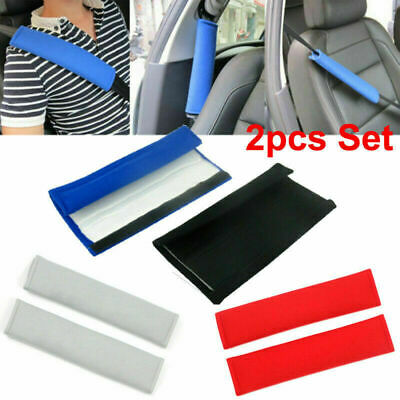2 X Car Seat Belt Cover Pads Car Safety Cushion Covers Strap Pad For Adults Kids • 3.28£