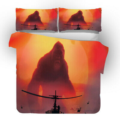 AU74.69 • Buy King Kong 3D Printed Bedding Set 2/3Pcs Duvet Cover & Pillowcase(s) UK6