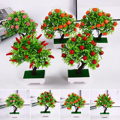 Fake Artificial Potted Plant 23 Fruits For Weddings Parties Offices Decor • 7.81£