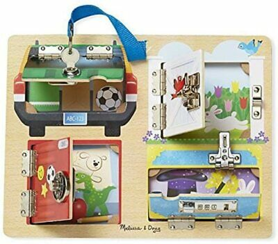 £14.50 • Buy Melissa & Doug Lock And Latch Board Wooden Toy Play Set