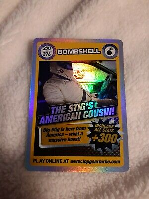 Top Gear Turbo Challenge SUPER RARE CARD 270 OF 276 The Stigs American Cousin • 5£