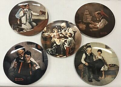 $ CDN24.24 • Buy Vintage Lot Of 5 Norman Rockwell Heritage Collection Plates Knowles Numbered Ltd