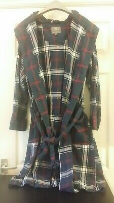 °Fatface Womens Size Small Tartan Hooded Dressing Gown • 19.99£