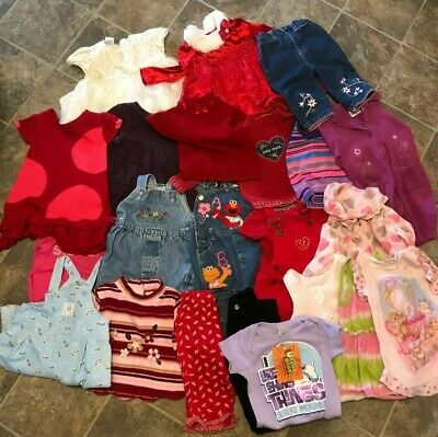 £94.21 • Buy 23-Pieces Lot Of Baby Girls Clothes 12 Months Dresses Overalls Pants Name Brands