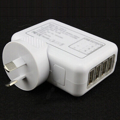AU12.76 • Buy 5V 2.1A 10W 4 Port USB Travel Home Wall Charger AC Adapter AU Plug For Phone Lat