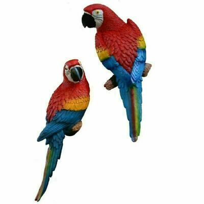 £11.99 • Buy Resin Parrot Bird Statue Wall Mounted Outdoor Garden Tree Lawn Decors Ornament