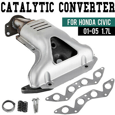 $76.50 • Buy Exhaust Manifold With Catalytic Converter For Honda Civic 2001-2005 1.7L L4 SOHC