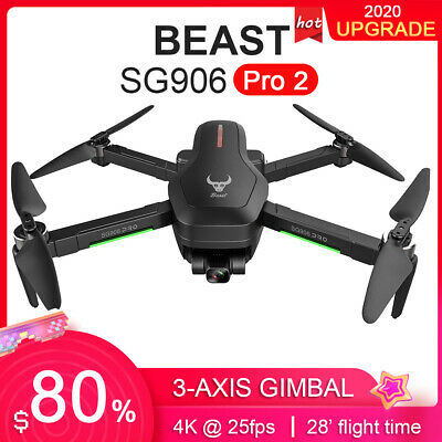 ZLL Beast SG906 PRO 2 GPS RC Drone With Camera 4K 3-axis Gimbal Brushless I3K4 • 163.99£