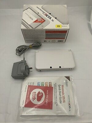 AU175 • Buy Nintendo 3DS XL White, With Charger Box And Manuals - Very Good Condition